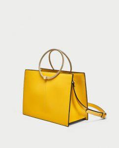 Zara Rigid Tote Bag