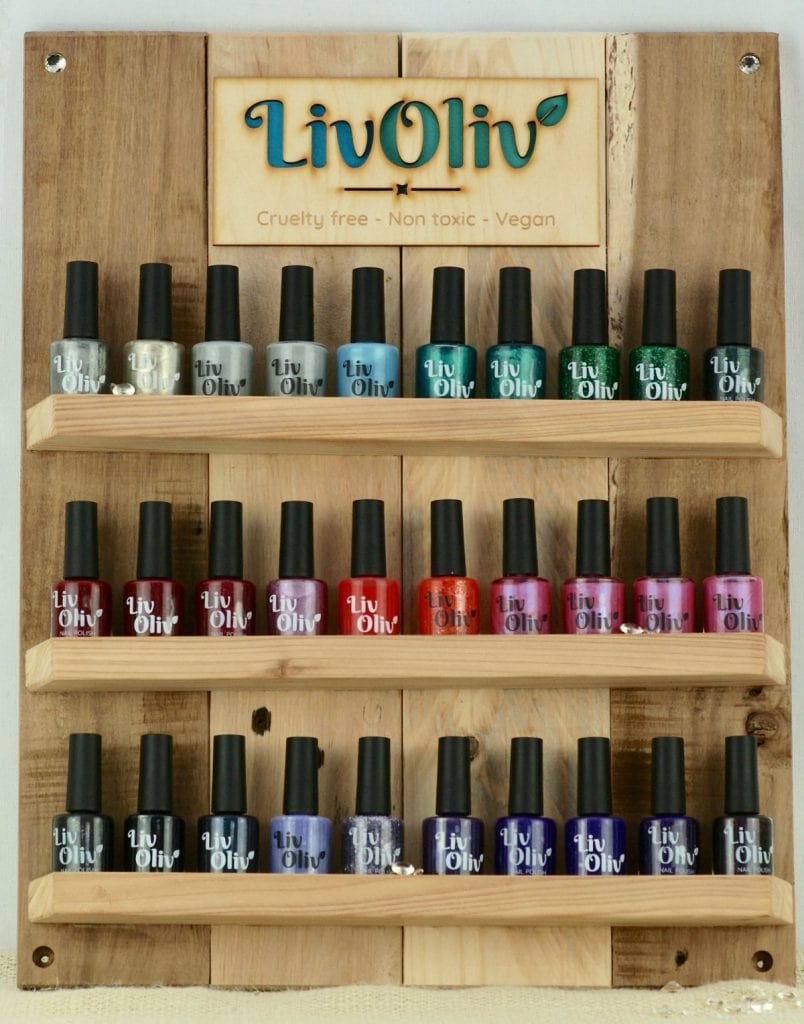 Recycled Wooden Nail Polish Stand