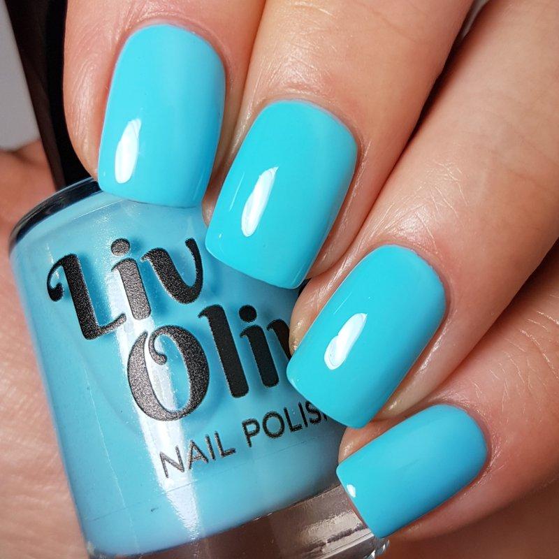 Neon Turquoise Creme Polish