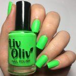 Euphoria swatch - bright neon green matte top coat