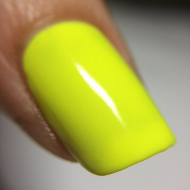 Harmony macro - bright neon yellow gloss top coat