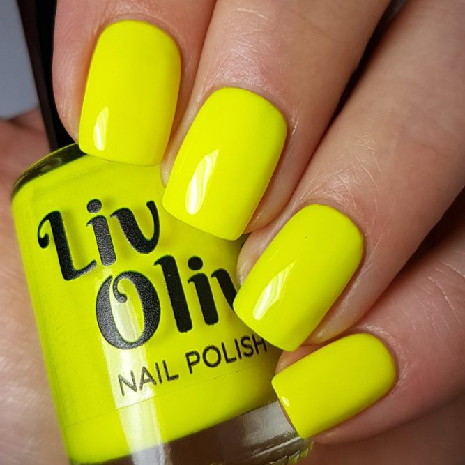 Harmony - bright neon yellow gloss top coat