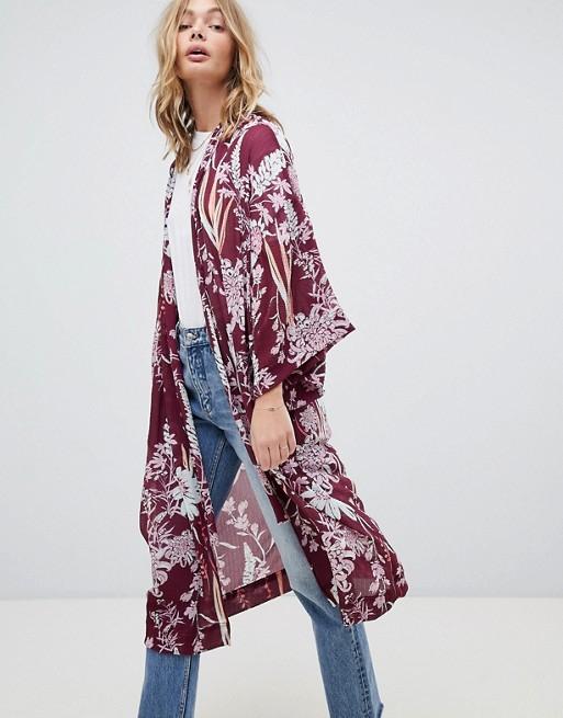 Free People Botanical Print Kimono