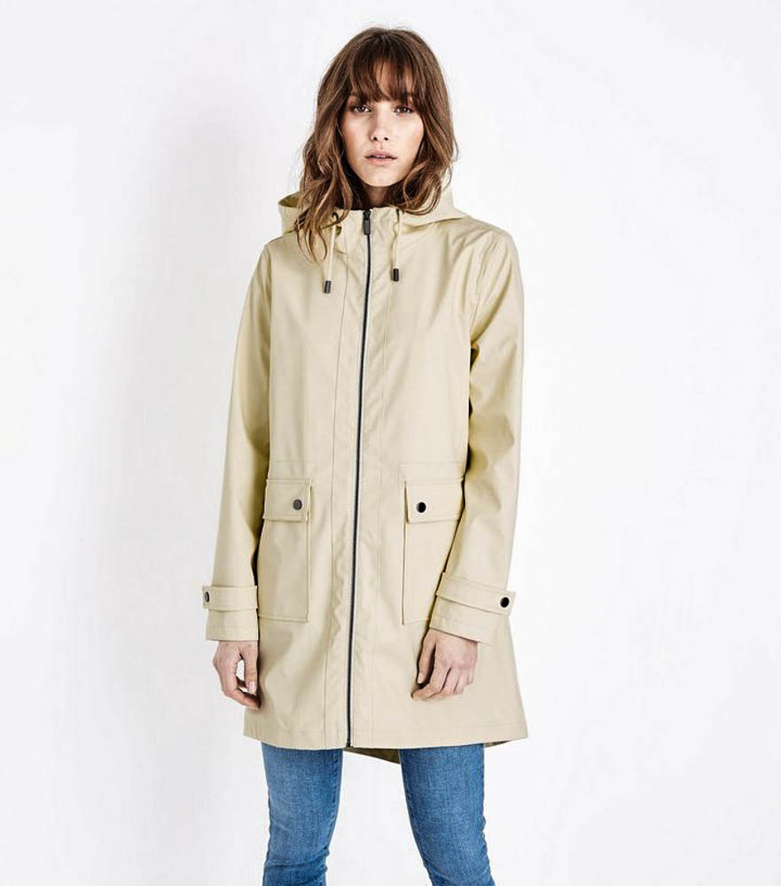 Pale Yellow Longline Anorak