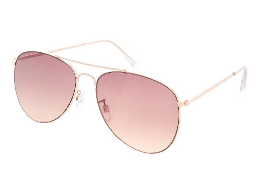 ALLY Rose Gold Aviator Sunglasses