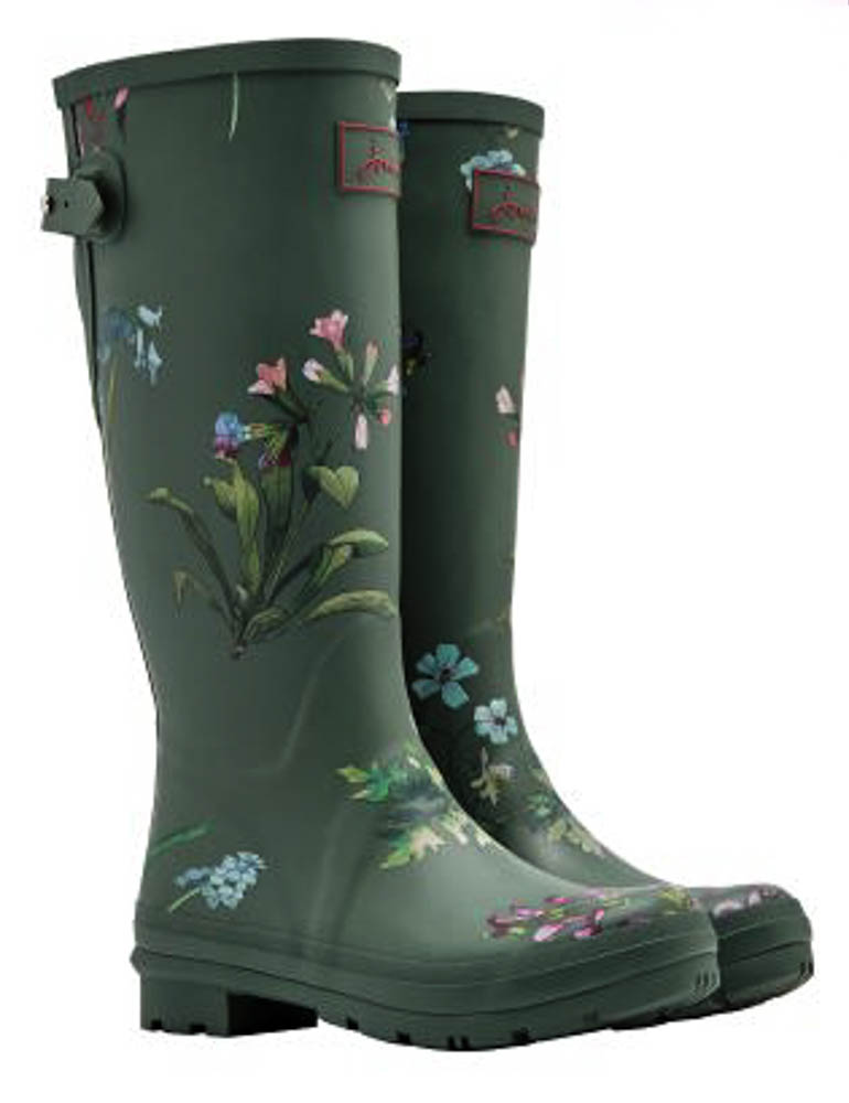 Joules Laurel Botanical Printed Welly