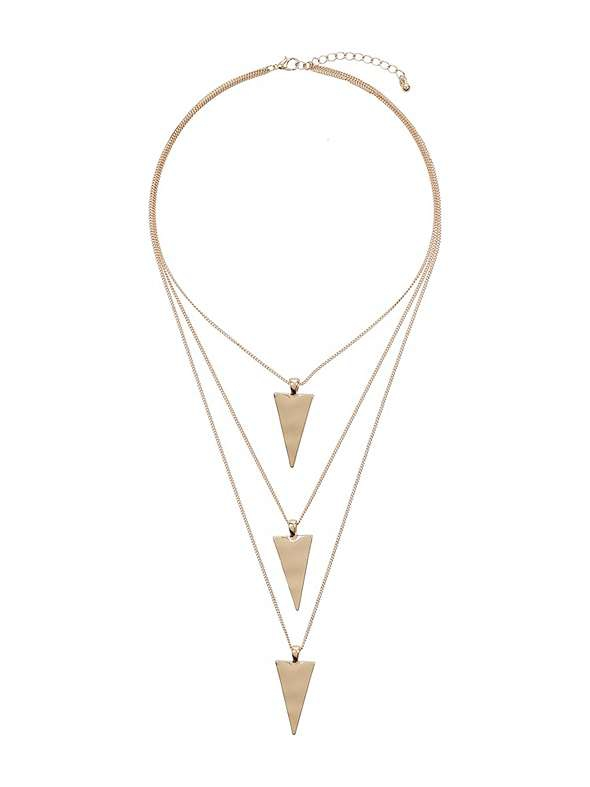 Mikey London Multi Triangle Pendant Chain Necklace