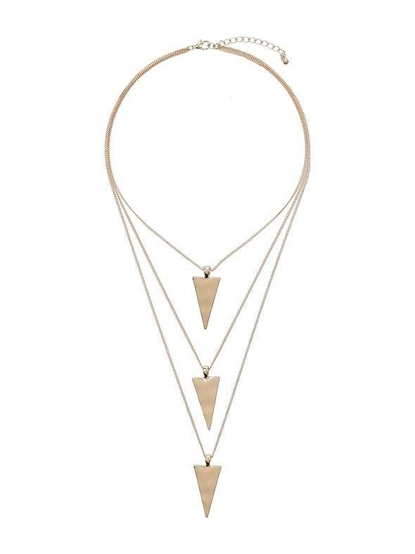 Mikey London Multi Triangle Pendant Chain Necklace