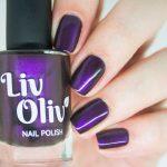 livoliv cruelty free magnetic nail polish purple