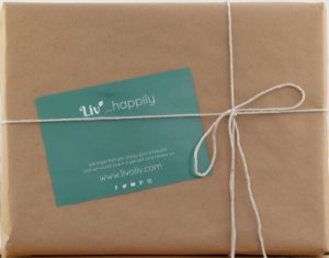Parcel in brown paper with string bow