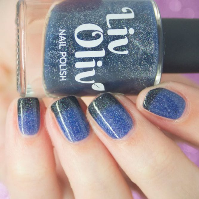 cruelty free Mystical Mayhem blue nail varnish bottle