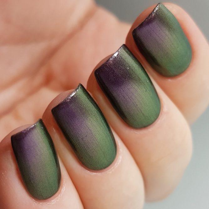 LivOliv Cruelty Free Nail Polish ultra chrome purple and green