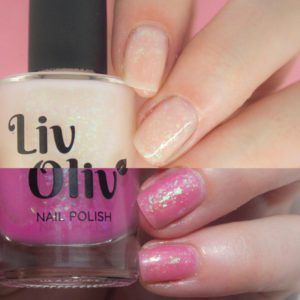 neutral to pink photochromic cruelty free nail polish transition nails
