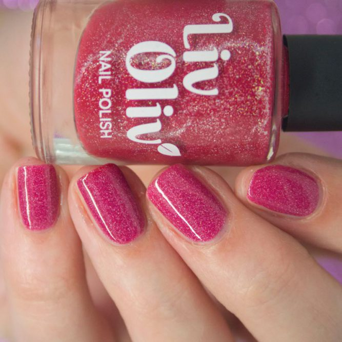 red to pink thermal cruelty free nail polish