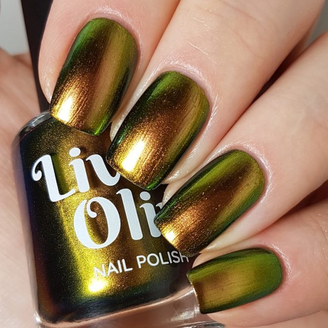 LivOliv Cruelty Free Nail Polish ultra chrome gold