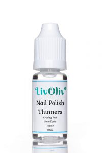 LivOliv Nail Polish Thinner bottle against white background