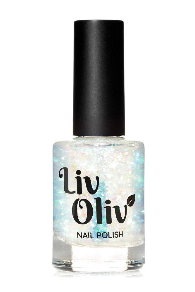 iridescent polish topper in bottle