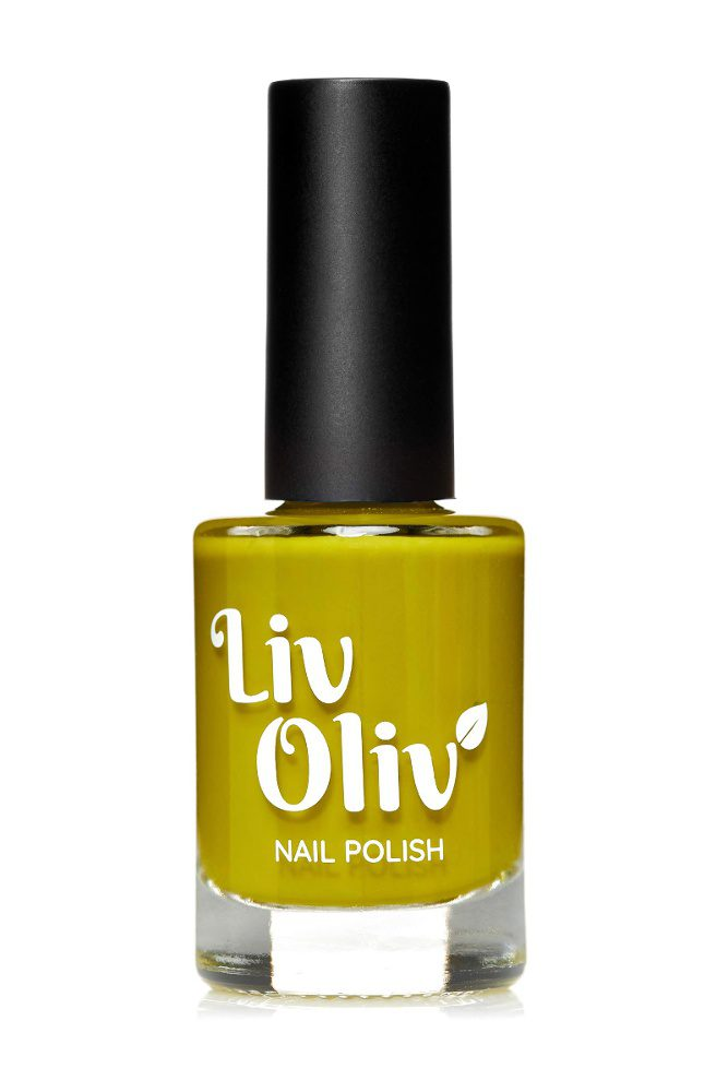 Livoliv Olive Creme polish in a bottle
