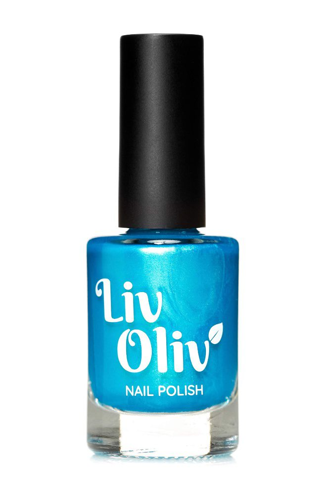 LivOliv Turquoise Blue Nail Polish in Bottle